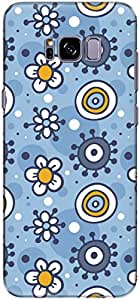 The Racoon Grip printed designer hard back mobile phone case cover for Samsung Galaxy S8 Plus. (Baby Flowe)