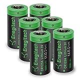Batteria al litio CR123A 3V, 6batterie da 1600mAh con batterie CR123A usa e getta per fotocamera Polaroid torcia telecomando giocattoli