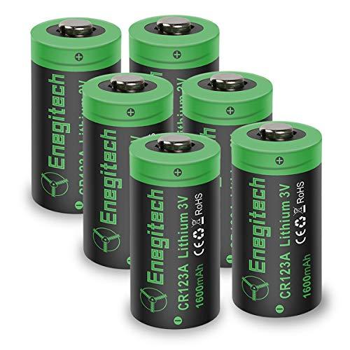 CR123A Lithium-Batterien, 3 V, 1600 mAh, Nicht wiederaufladbar, CR123A Einweg-Batterien für Polaroid-Kamera, Taschenlampe mit Fernbedienung, 6 Stück (Einweg Polaroid-kamera)