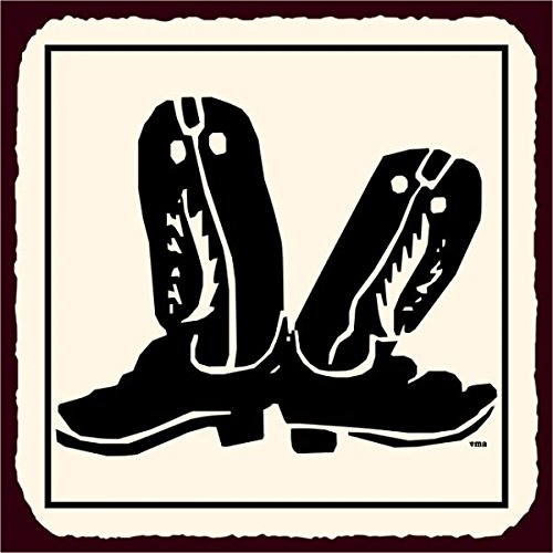 Stivali da cowboy vintage in metallo arte occidentale in metallo Tin Sign 30,5x (Occidentale Del Metallo Di Arte)