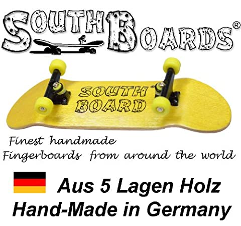 Full Finger Skateboard Yellow/SWZ GE South Boards® Handmade Wood Fingerboard Real Wood