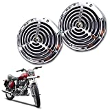 #3: Vheelocityin Small Size Silver Grill Horn for All Bike/ Scooter (Set of 2) For Royal Enfield Bullet Electra Twinspark