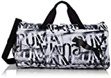PUMA Damen at ESS Barrel Bag Sporttasche, Black White, OSFA