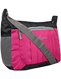Favria Men & Women Sling Bag- Pink&Black