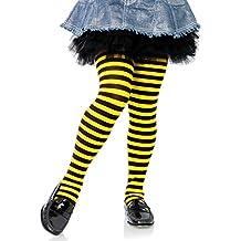 Leg Avenue Niños Leotardos rayas negro amarillo tamaño m aprox. 128hasta 140