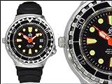 Taucher Uhr m. Automatik Werk Saphir Glas PU Band Helium Ventil T0079 - 4