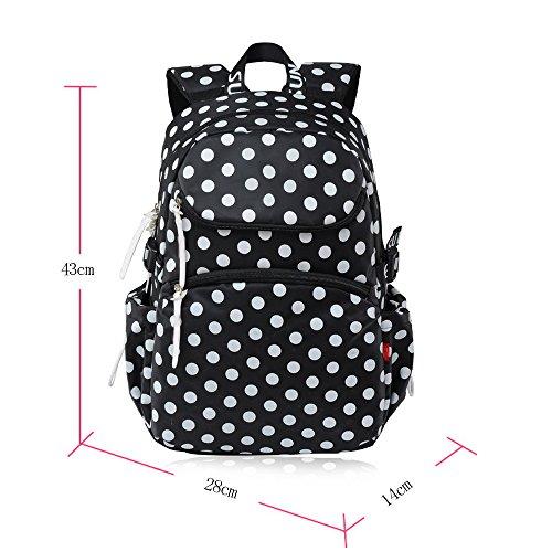 BOZEVON Wasserdichter Rucksack für Kinder Unisex Schultaschen Jungen Mädchen für Reisen, Wandern, Sport Schwarz # 8116