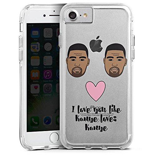 Apple iPhone 7 Bumper Hülle Bumper Case Schutzhülle Motiv ohne Hintergrund Kanye West Statement Bumper Case transparent