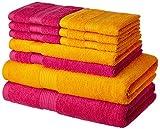 Solimo 100% Cotton 10 Piece Towel Set, 5...