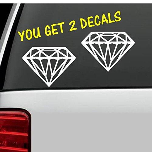 Bluegrass Decals 2x Diamant Vinyl Aufkleber Aufkleber für Auto Truck SUV Boot Trailer JDM abgesenkt Bling