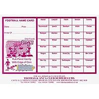 Football Fundraising Cards, 40 Team (Pack 25)