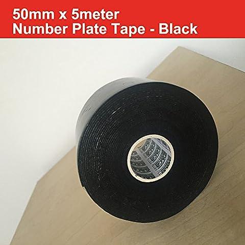 Ruban adhésif double face en mousse Noir 50MM X 5m Qualité Automotive Nombre Assiettes Cars