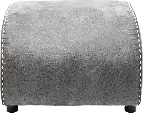 Kare Vintage Grey Hocker Swing Ritmo, passender Sitzhocker zum Schaukelsessel, Polsterhocker in Grau als Fußablage, (H/B/T) 40 x 52 x 60 cm, mikrofaser,