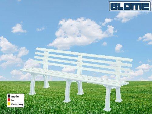 Gartenbank Juist weiß Blome 4-Sitzer