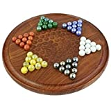#8: H A Collection 12 Inch Wooden Chinese Checkers Game