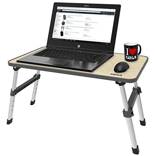 Gizga Essentials Ergonomic Height Adjustable Foldable Multi-Function Portable Laptop Table