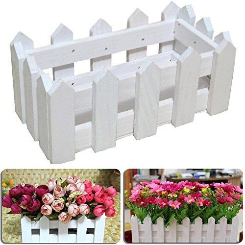 Staccionata in legno, supporto pentola per piante da giardino di fiori piantatore home decor con geschaeumten in plastica