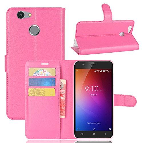 Hülle für Blackview E7 / E7s [Stand Funktion], Forhouse Premium PU Leder Brieftasche Shell mit Kartenfächer Geldscheinfach and Magnetverschluss Buchhandlung Schützend flip hülle Handy Schutzhülle(Pink)