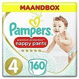 Pampers Premium Protection Pants Maat 4, 9-14kg, 160 Luierbroekjes, Maandbox