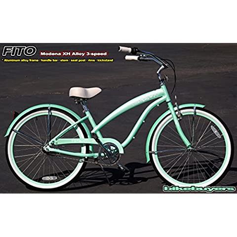 Women's Modena EX Alloy Shimano Nexus 3-Speed Beach Cruiser Bike Color: Mint Green by Fito