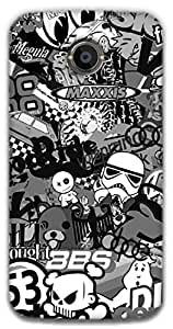 The Racoon Lean printed designer hard back mobile phone case cover for Moto X 2nd Gen. (The Intern)