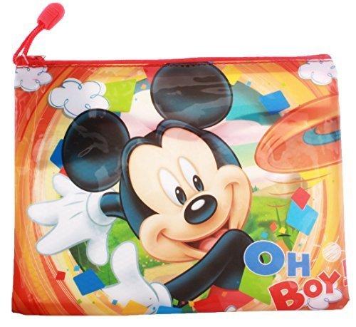Trousse de toilette imperméable enfant garçon Mickey Orange 22x17cm
