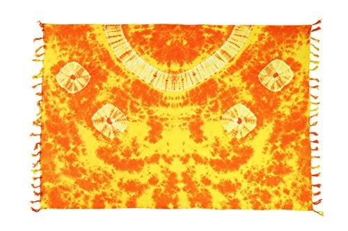 Ciffre - Copricostume -  donna Orange Tye Die Muster + Schnalle