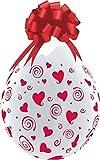 DeCoArt... Set Preis 2 Geschenkeballons Stufferballons Rote Herzen ca. 45 cm naturell (ohne Schleife) ungefüllt und 10 Kleine Latexballons ca 13 cm Perl farbig Sortiert