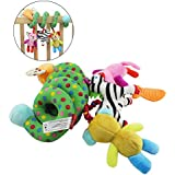 TOYMYTOY Infant Baby Plush Adorable Animal Rattle Stroller Crib Mobile Ornament Hangings Rattle Toy Gift For Boys And Girls