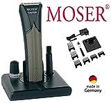 M O S E R Profiline Haarschneider E A S Y S T Y LE, Netz / Akku, Edelstahlschneidsatz, LED-Anzeige, von 0,7mm - 25,0mm, 6 Aufsätze