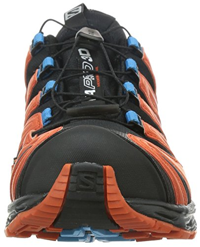 Salomon XA Pro 3D, Chaussures de randonnée homme Multicolore (Black/Tomato Red/Blue Line)