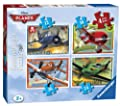Ravensburger Disney Planes - Juego de puzles (4 unidades), diseño de aviones de Ravensburger
