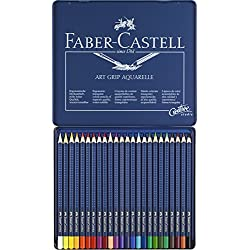 Faber-Castell 09114224 - Lápices de color aquarellables, 24 unidades