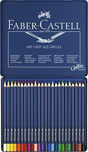 Foto de Faber-Castell 09114224 - Lápices de color aquarellables, 24 unidades