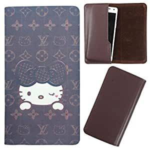 DooDa - For LG D325 PU Leather Designer Fashionable Fancy Case Cover Pouch With Smooth Inner Velvet