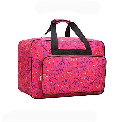 Bolso para Máquina de Coser, HomeYoo Bolsa de nylon universal, funda de transporte acolchada universal con bolsillos y asas (Red)