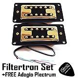 Artec filtertron Gold Tonabnehmer-Set von 2Tonabnehmer (Hals und Steg) RRP £ Update + Adagio Plektrum