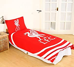 Official Liverpool FC 'Pulse' Single Duvet Cover and Pillowcase Set by Official