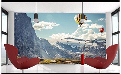 Preisvergleich Produktbild Chlwx 3D Photo Wallpaper 3D Wandbilder Tapeten Für Wände 3D Der Berg Schnee Schwebenden Wolke Von Farbe Ballon Steigen Landschaft Gemälde 200Cmx150Cm