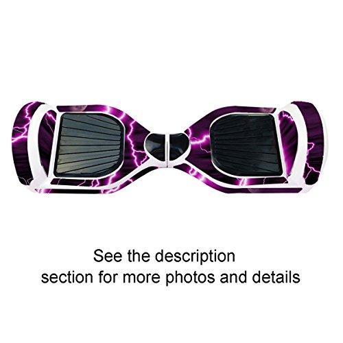 Elektro-Skateboards Elektro Scooter Self Balancing Scooter Aufkleber Elektroroller Roller Self Balance Board Sticker – Selbststabilisierendes Fahrzeug E-Board Schutzfolie Sticker Aufkleber – Purple Lightning von GameXcel ® - 6