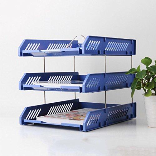Liu Yu·Bürofläche, Bürobedarf blau Aktenkasten kann gefaltet werden drei Schichten Datei-Rack