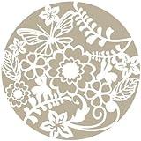 Stencil Mini Deco Vintage Figura 036 Rosetón Floral. Medidas aproximadas: Medida exterior del stencil: 12 x 12 cm Medida del diseño:9 x 9 cm