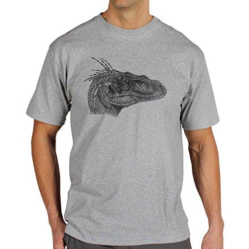 Jurrasic-Park-Dinosaurs-Background.jpg Herren T-Shirt Grau