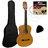 Best Guitar Strings For Beginners - Tiger 1/2 Size Classical Guitar Beginners Complete Starter Review