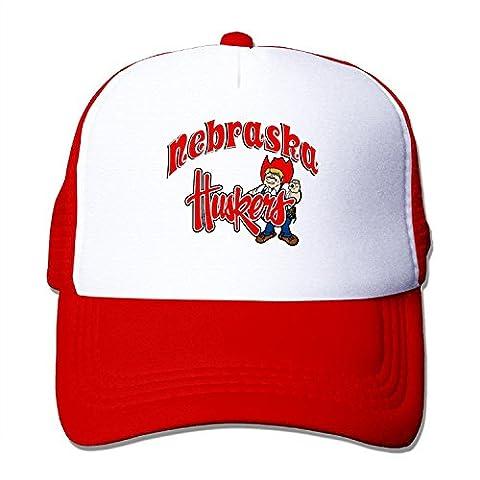 Custom Adult Unisex Nebraska Cornhuskers 100% Nylon Mesh Caps One Size Fits Most Adjustable Mesh Hats