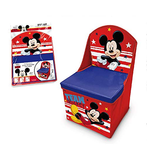 Disney LR3055 Kinderstuhl Mickey Mouse, zusammenklappbar, 48 x 28 x 28 cm