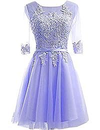 ivyd ressing Mujer Roman mesa Pie Cuello A de línea piedras fijo vestido Party Prom vestido