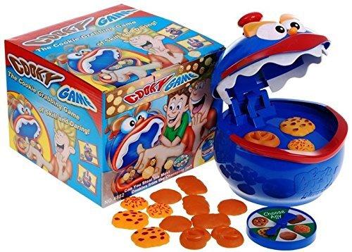 COOKIE MONSTER Spiel - Geniales Geschicklichkeitsspiel Partyspiel Gesellschaftsspiel - hoher Spaßfaktor wie kroko (Party Monster Cookie)