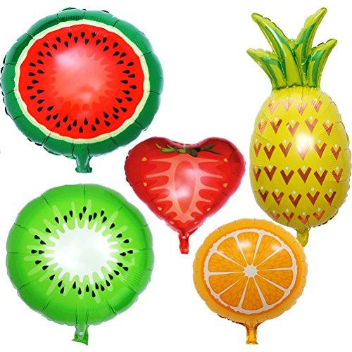 olienballon Partyballons Obst Früchte Ballons Hawaiian Luau Party Baby Dusche Dekoration ()