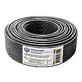 30m Lautsprecherkabel 2x2,5mm², rund, schwarz, OFC, Boxenkabel, mit Metermarkierung, in bewährter M&G Techno-Qualität